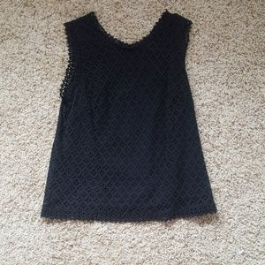 Crochet black blouse
